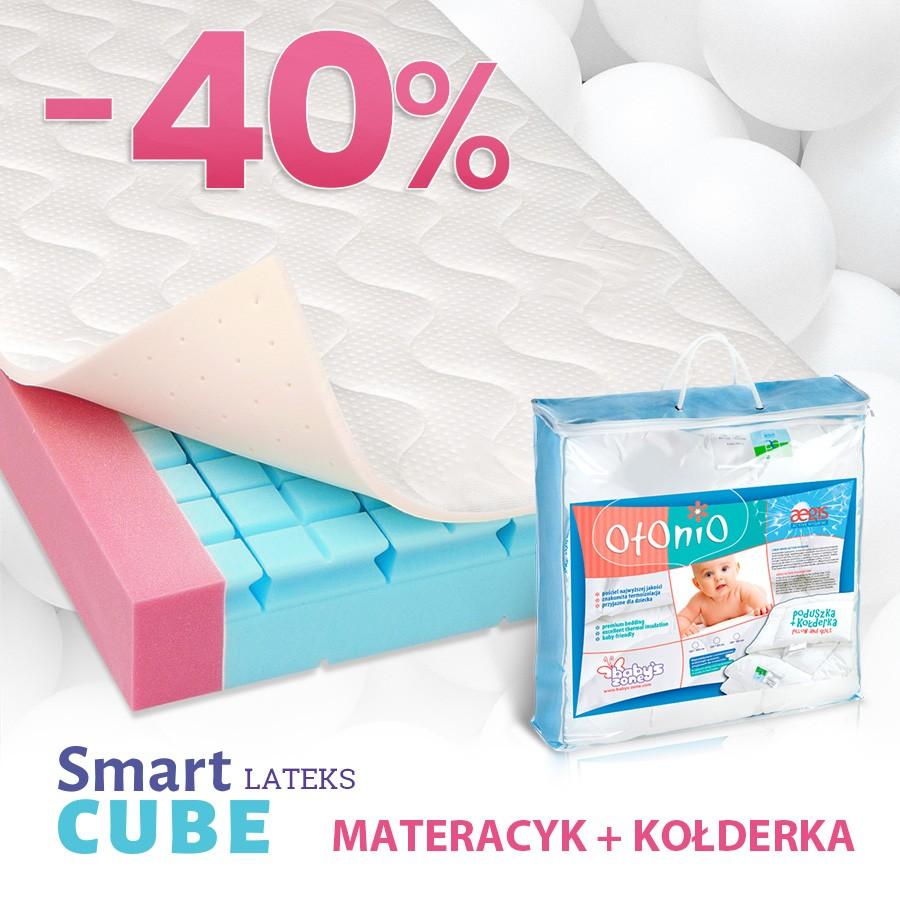 Materac do łóżeczka Smart Cube Lateks + kołderka Aegis gratis