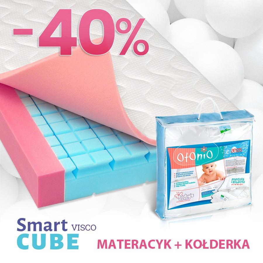 Materac do łóżeczka Smart Cube Visco + kołderka Aegis gratis