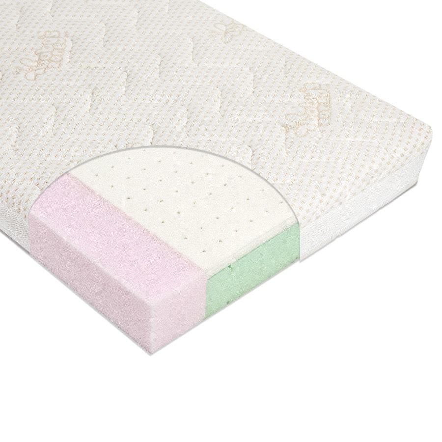 Materac do łóżeczka VARIO LATEX 120cm x 60cm z pokrowcem Tencel