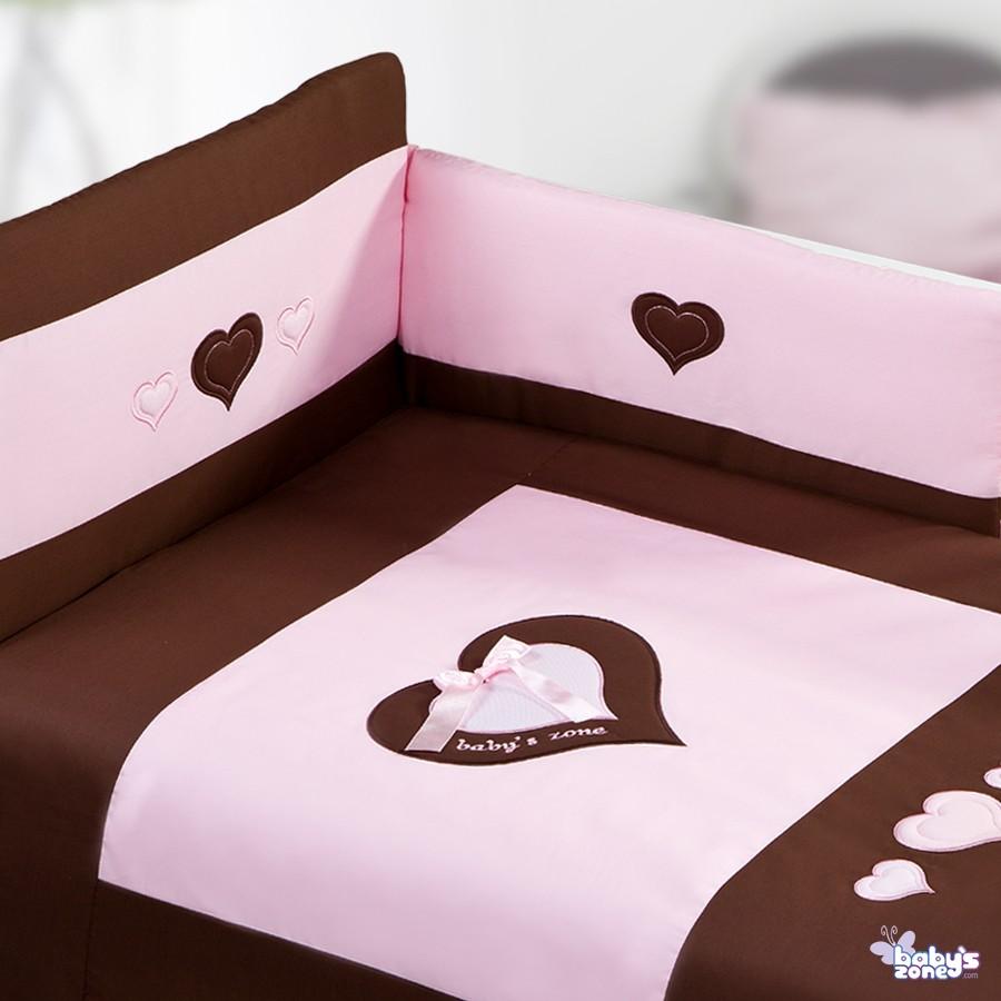 SERDUSZKA czekolada-róż - 2 elementowa pościel dla dziecka
