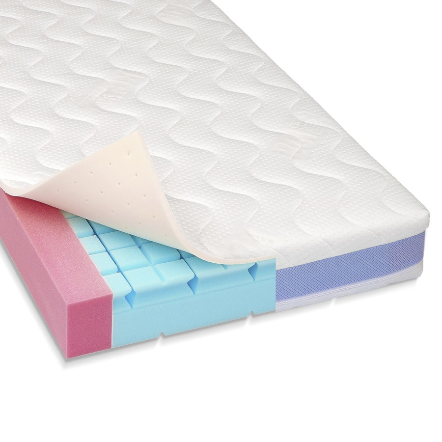Materac do łóżeczka Smart Cube Lateks z pokrowcem TENCEL