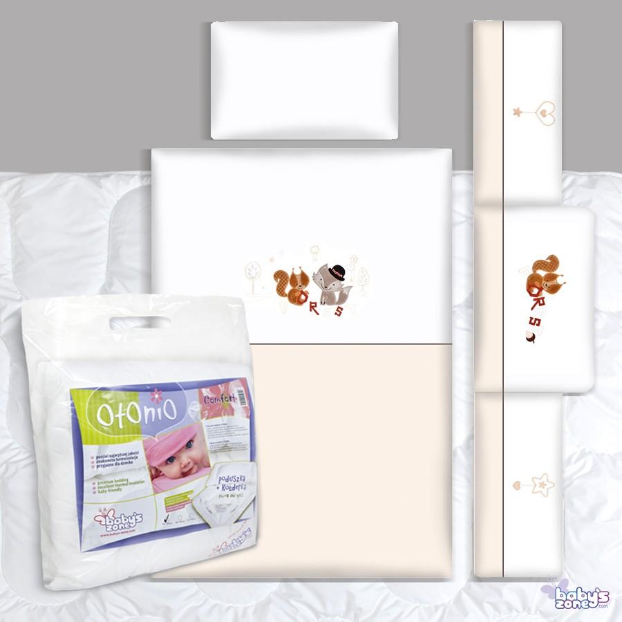Zestaw Baby's Zone - FOREST LISEK 3 elementowa pościel dla dziecka  + OTONIO - COMFORT Kołderka z poduszką 135cm x 100cm