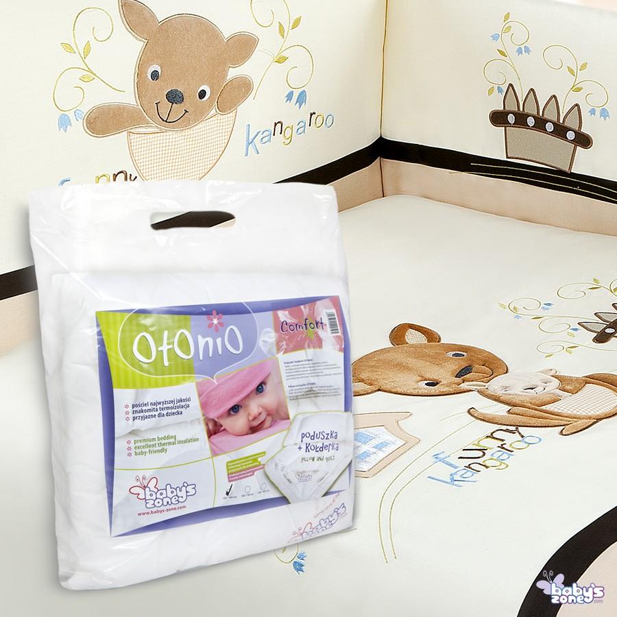 Zestaw Baby's Zone - KANGURKI 3 elementowa pościel dla dziecka  + OTONIO - COMFORT Kołderka z poduszką 135cm x 100cm