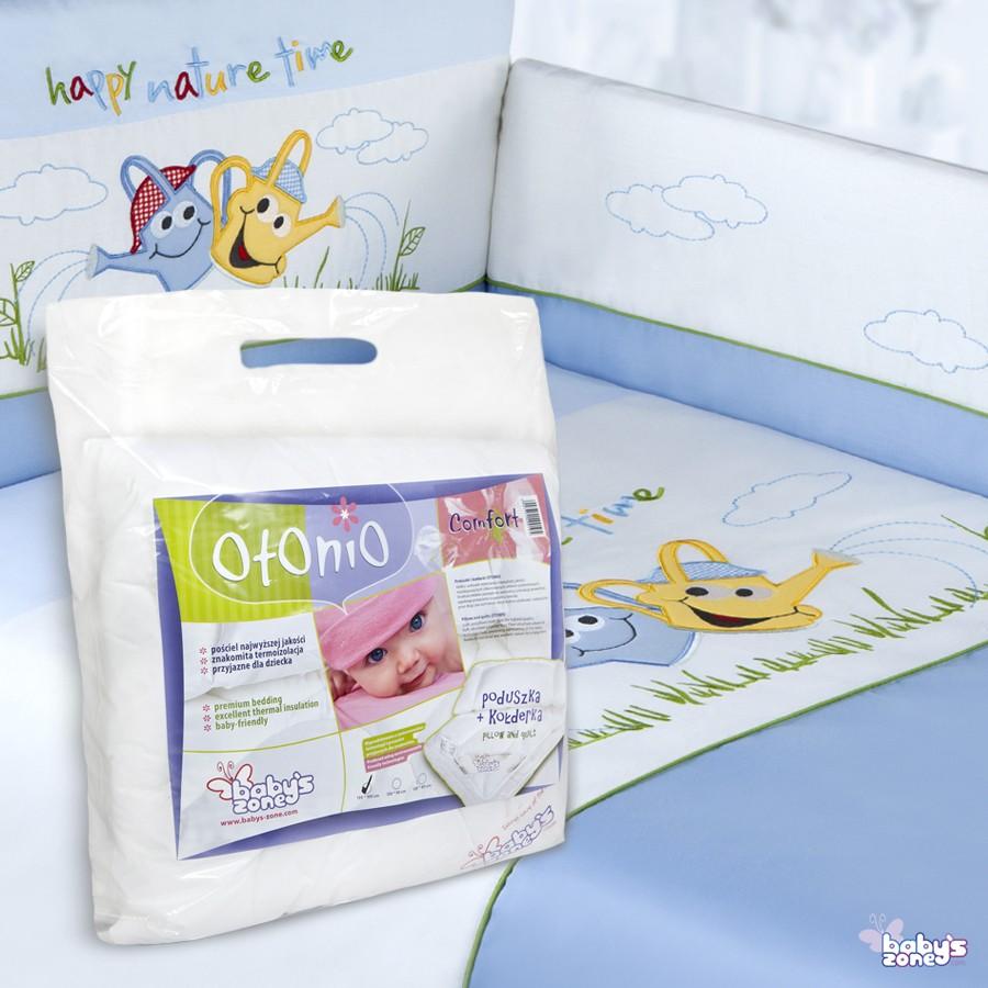 Zestaw Baby's Zone - KONEWKI NIEBIESKIE 3 elementowa pościel dla dziecka  + OTONIO - COMFORT Kołderka z poduszką 135cm x 100cm