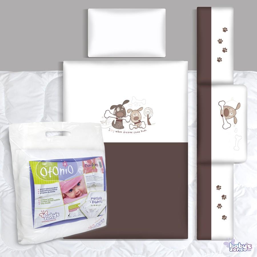 Zestaw Baby's Zone - PIESKI DWA BRĄZ 3 elementowa pościel dla dziecka  + OTONIO - COMFORT Kołderka z poduszką 135cm x 100cm