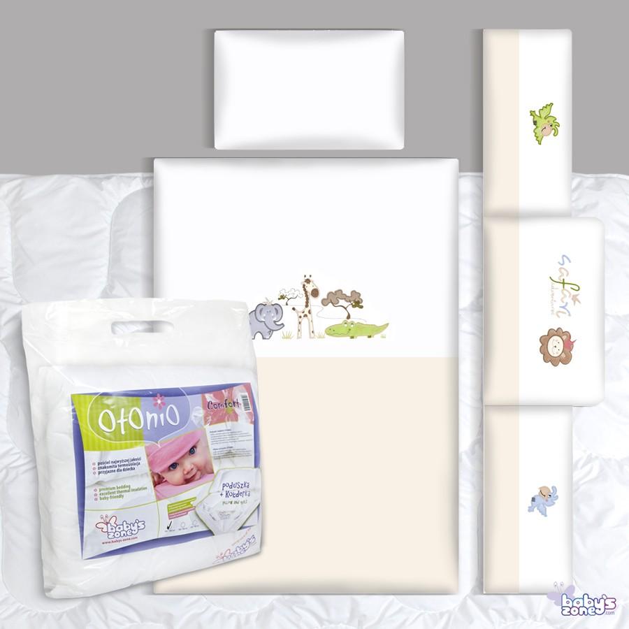 Zestaw Baby's Zone - SAFARI 3 elementowa pościel dla dziecka  + OTONIO - COMFORT Kołderka z poduszką 135cm x 100cm
