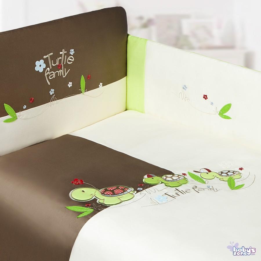 Żółwiowa Rodzinka  - 2 elementowa pościel dla dziecka
